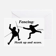 Hook Up and Score Greeting Card