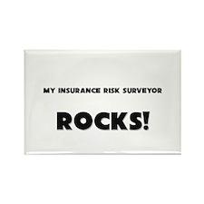 MY Insurance Risk Surveyor ROCKS! Rectangle Magnet