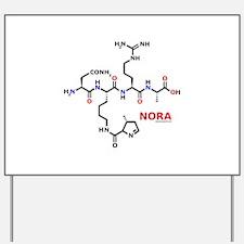 Nora name molecule Yard Sign