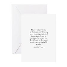 MATTHEW  7:22 Greeting Cards (Pk of 10)