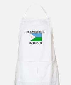 I'd rather be in Djibouti BBQ Apron