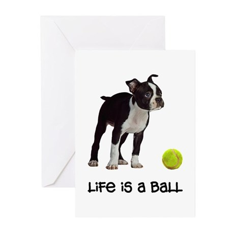 Boston Terrier Life Greeting Cards (Pk of 10)