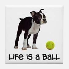 Boston Terrier Life Tile Coaster