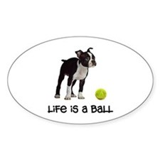 Boston Terrier Life Oval Decal