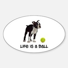 Boston Terrier Life Sticker (Oval)