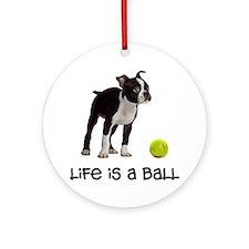 Boston Terrier Life Ornament (Round)