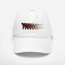 Chocolate Lab Gradient Baseball Baseball Cap
