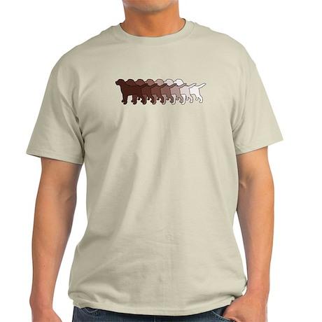 Chocolate Lab Gradient Light T-Shirt