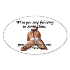 you get underwear Oval Decal