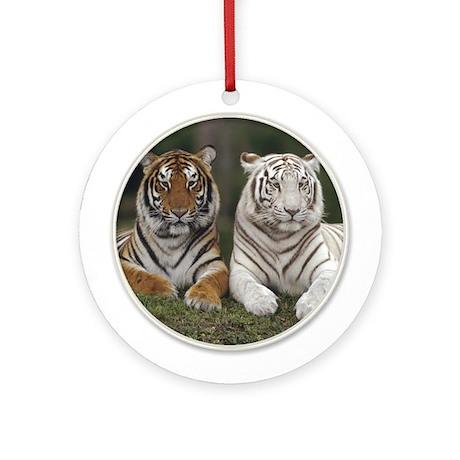 Tiger Yule Tree Ornament (Round)