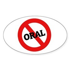 Anti Oral Oval Decal