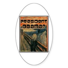 """""""Oh No, Obama"""" Oval Decal"""