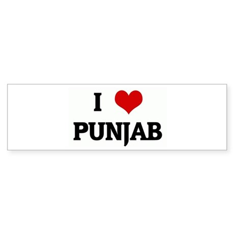 I Love PUNJAB Bumper Sticker