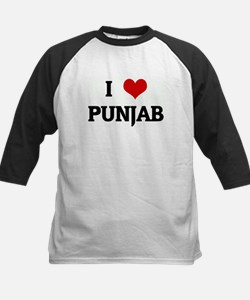 I Love PUNJAB Kids Baseball Jersey