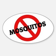Anti Mosquitos Oval Decal