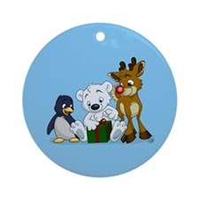 Christmas Cubs Ornament (Round)