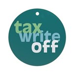 Tax Write Off Ornament (Round)