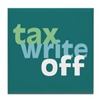 Tax Write Off Tile Coaster