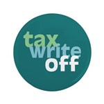 "Tax Write Off 3.5"" Button (100 pack)"