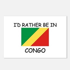 I'd rather be in Congo Postcards (Package of 8)