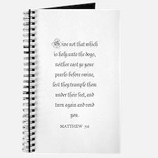 MATTHEW 7:6 Journal
