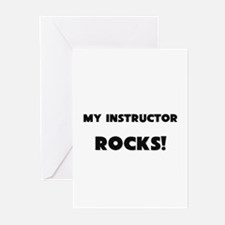 MY Instructor ROCKS! Greeting Cards (Pk of 10)