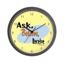 Ask, Believe, Receive Wall Clock