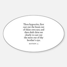 MATTHEW 7:5 Oval Decal