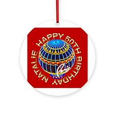 Happy Birthday Natalie Las Vegas Ornament (Rd)