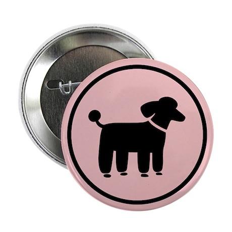 """Black Poodle 2.25"""" Button"""