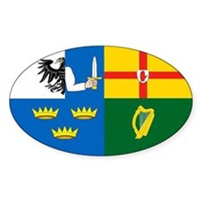 """""""The Four Provinces Flag"""" Oval Bumper Stickers"""