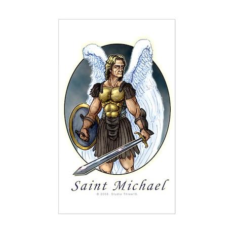 Saint Michael Rectangle Sticker