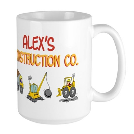 Alex's Construction Tractors Large Mug