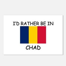 I'd rather be in Chad Postcards (Package of 8)