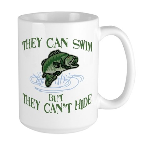 THEY CAN SWIM BUT CAN'T HIDE Large Mug