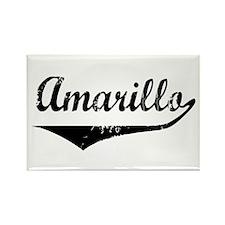 Amarillo Rectangle Magnet