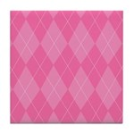 Pink Argyle Tile Coaster