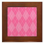 Pink Argyle Framed Tile