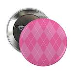 "Pink Argyle 2.25"" Button"