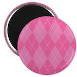 """Pink Argyle 2.25"""" Magnet (10 pack)"""