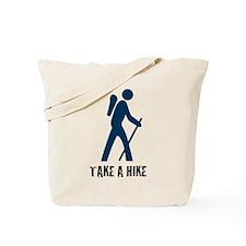 Take A Hike Blue Tote Bag