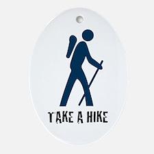 Take A Hike Blue Oval Ornament