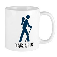 Take A Hike Blue Mug