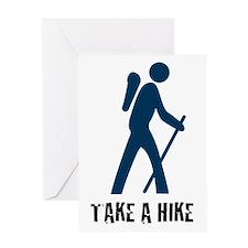 Take A Hike Blue Greeting Card