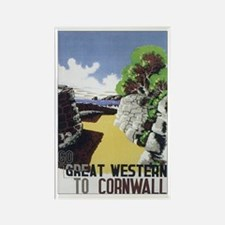 Cornwall England Rectangle Magnet