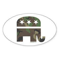 Camo-GOP Oval Decal