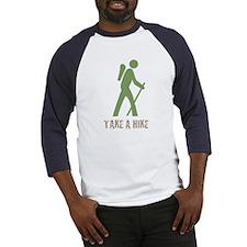 Take a Hike Green Baseball Jersey