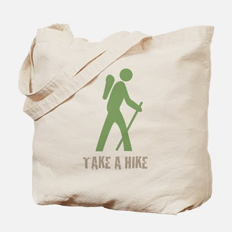 Take A Hike Green Tote Bag