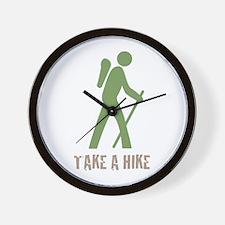 Take a Hike Green Wall Clock