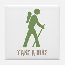 Take a Hike Green Tile Coaster